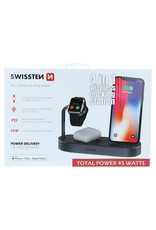 Swissten Swissten 4in1 MFI wireless docking station 45 watts