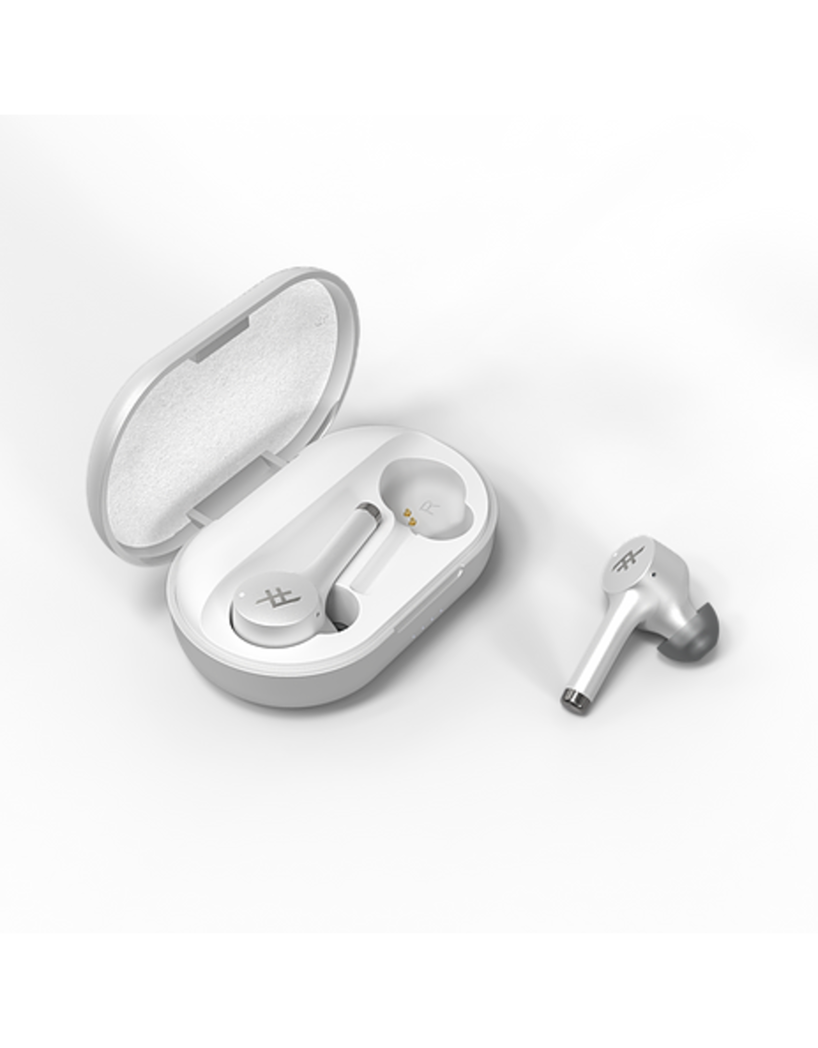 Zagg iFrogz AIRTIME PRO Truly Wireless Stem Earbuds + Charging Case - White