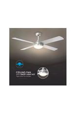 V-tac V-TAC | VT-6054-4 60W LED CEILING FAN WITH LIGHT KIT-RF CONTROL-4 BLADES-AC MOTOR