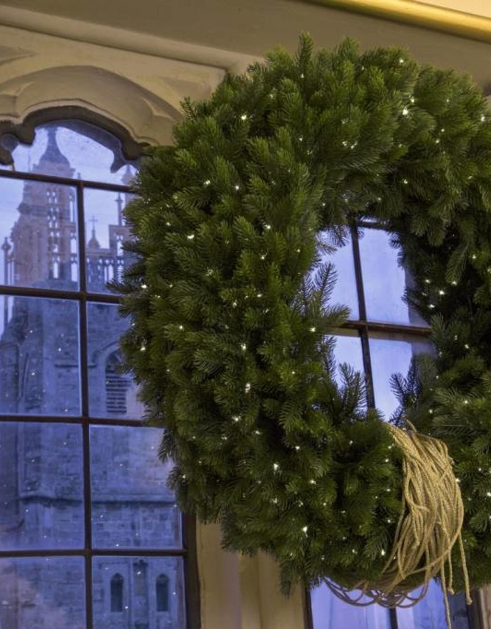 Kerstkrans groot met led.