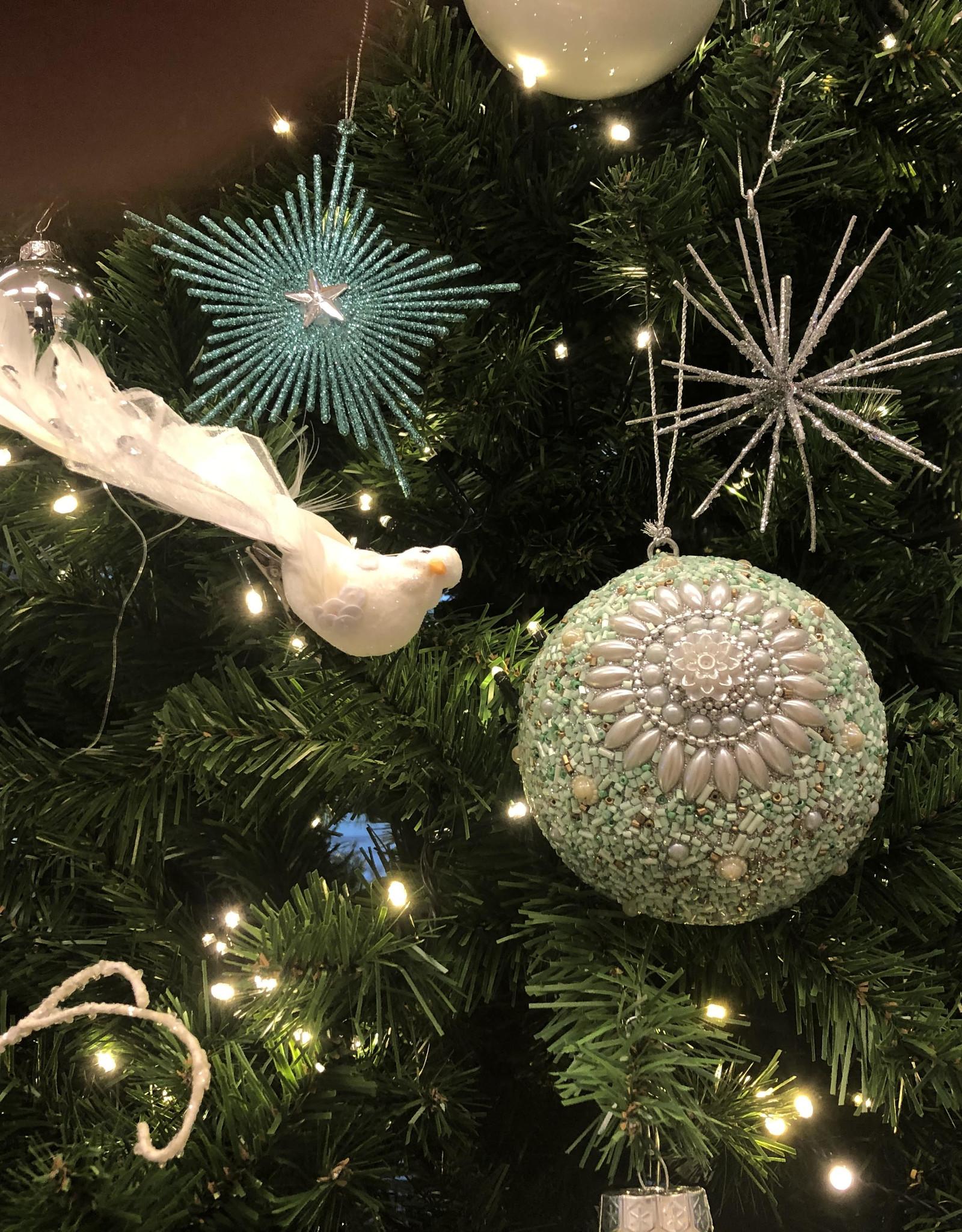 Kerstboom huren  Sparkling white