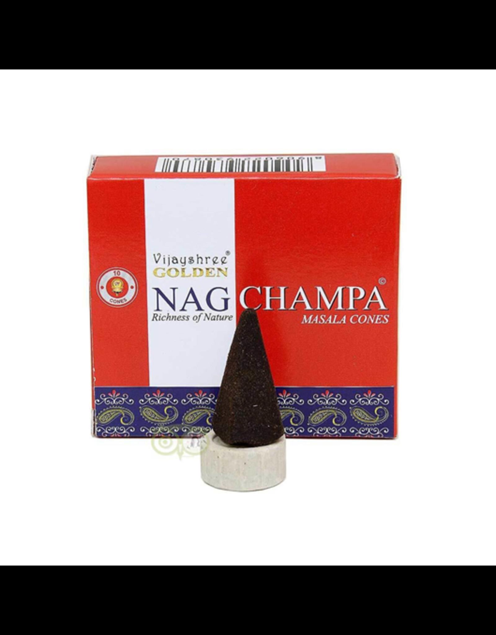 Vijayshree Golden Nag Champa cones