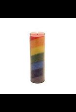 Yogi & Yogini Chakra Candle Rainbow 100 uur