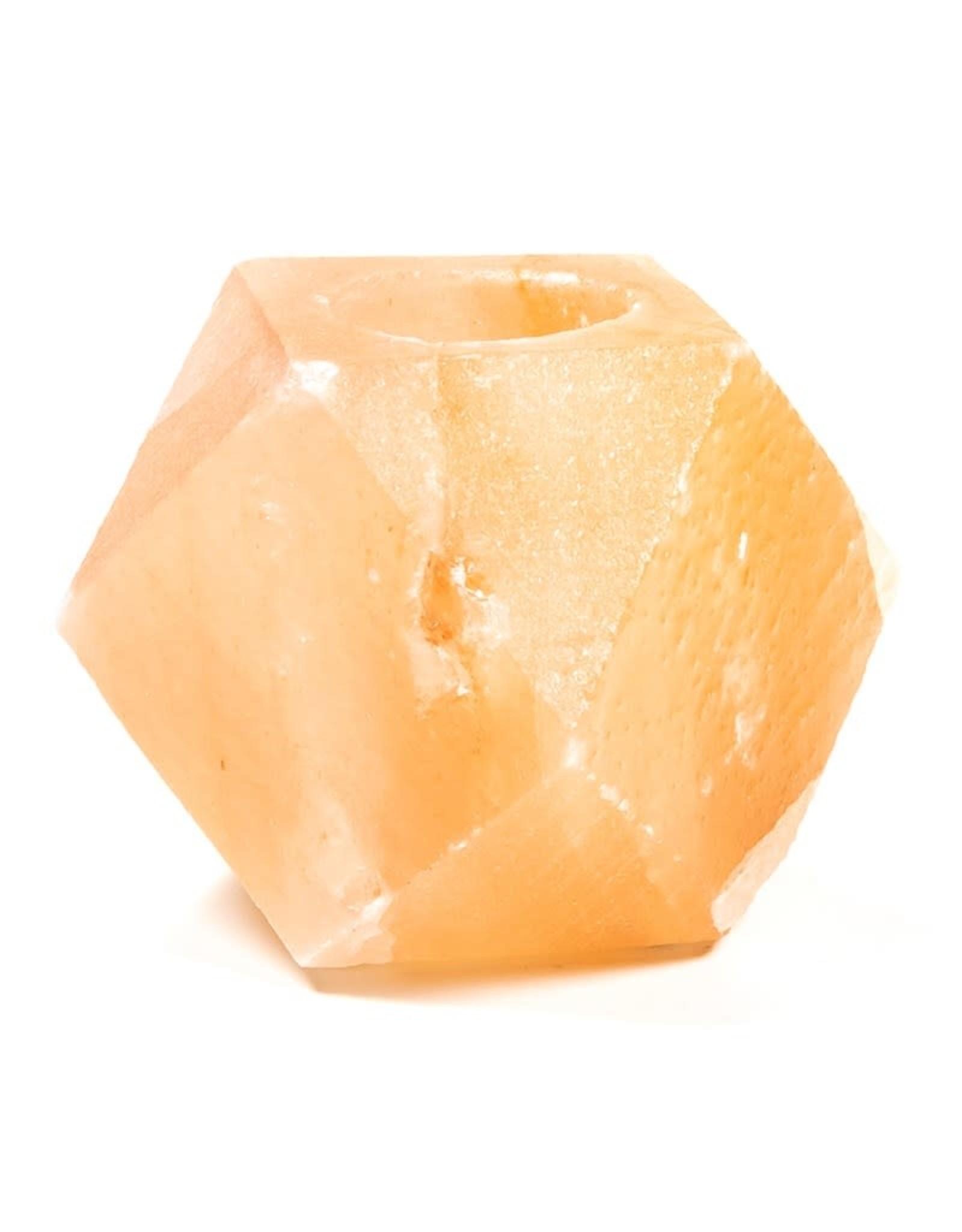 Waxinehouder Himalaya Zoutsteen Diamant