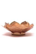 Lotus Bladvorm Smoked Beige met Goudrand