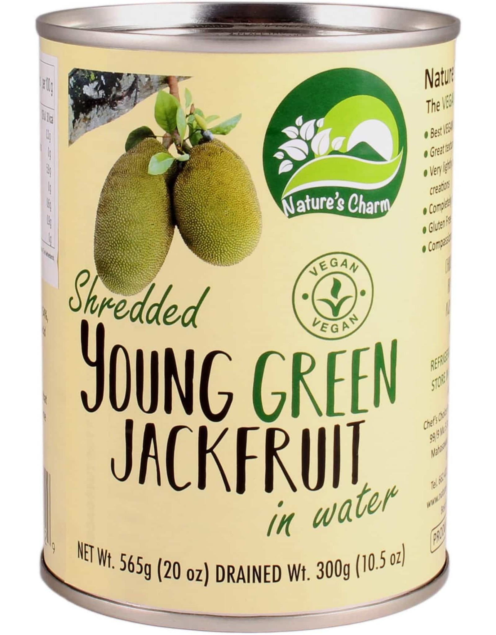 Nature's Charm Shredded Young Green Jackfruit in Water