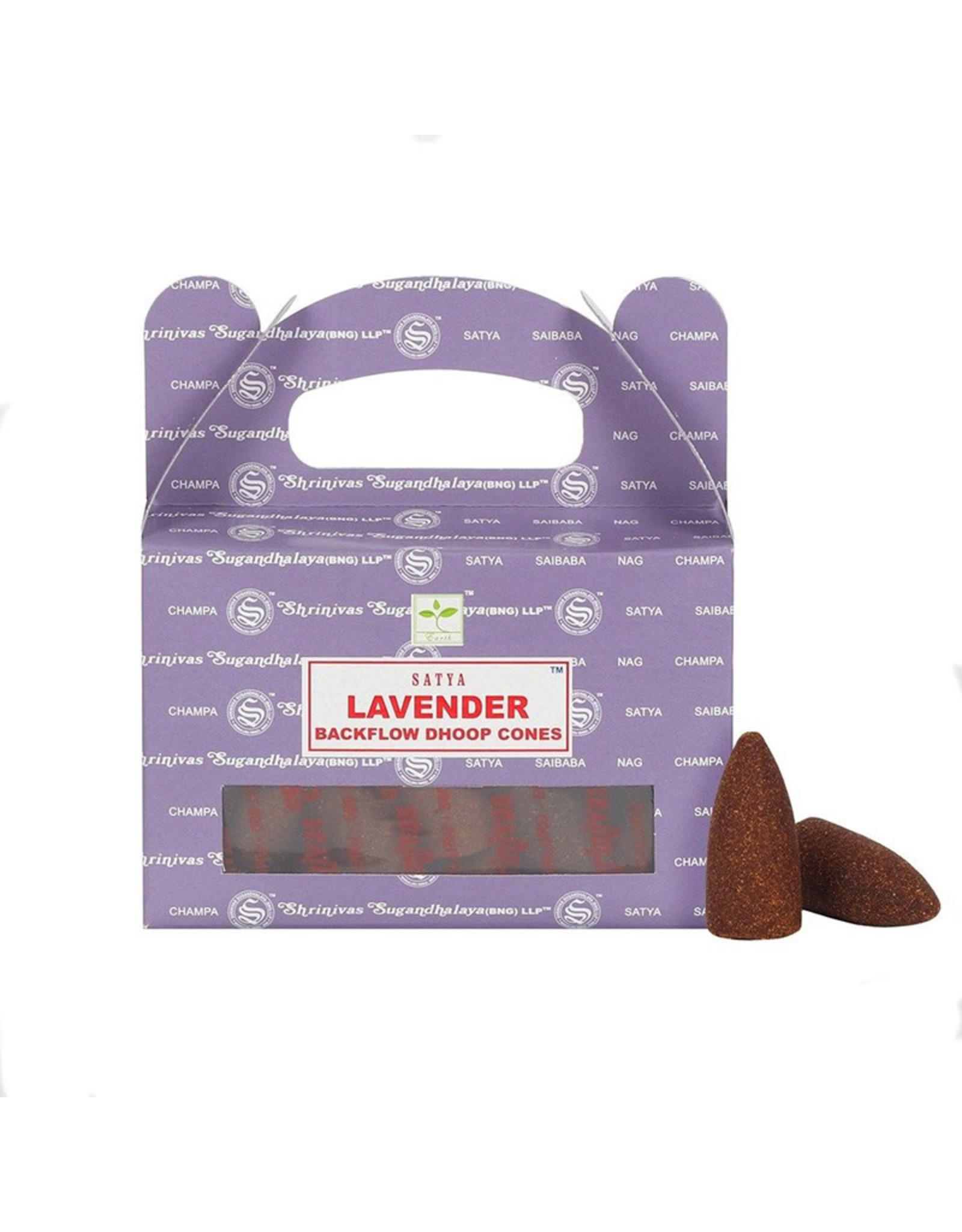 Satya Backflow Lavender Dhoop Cones