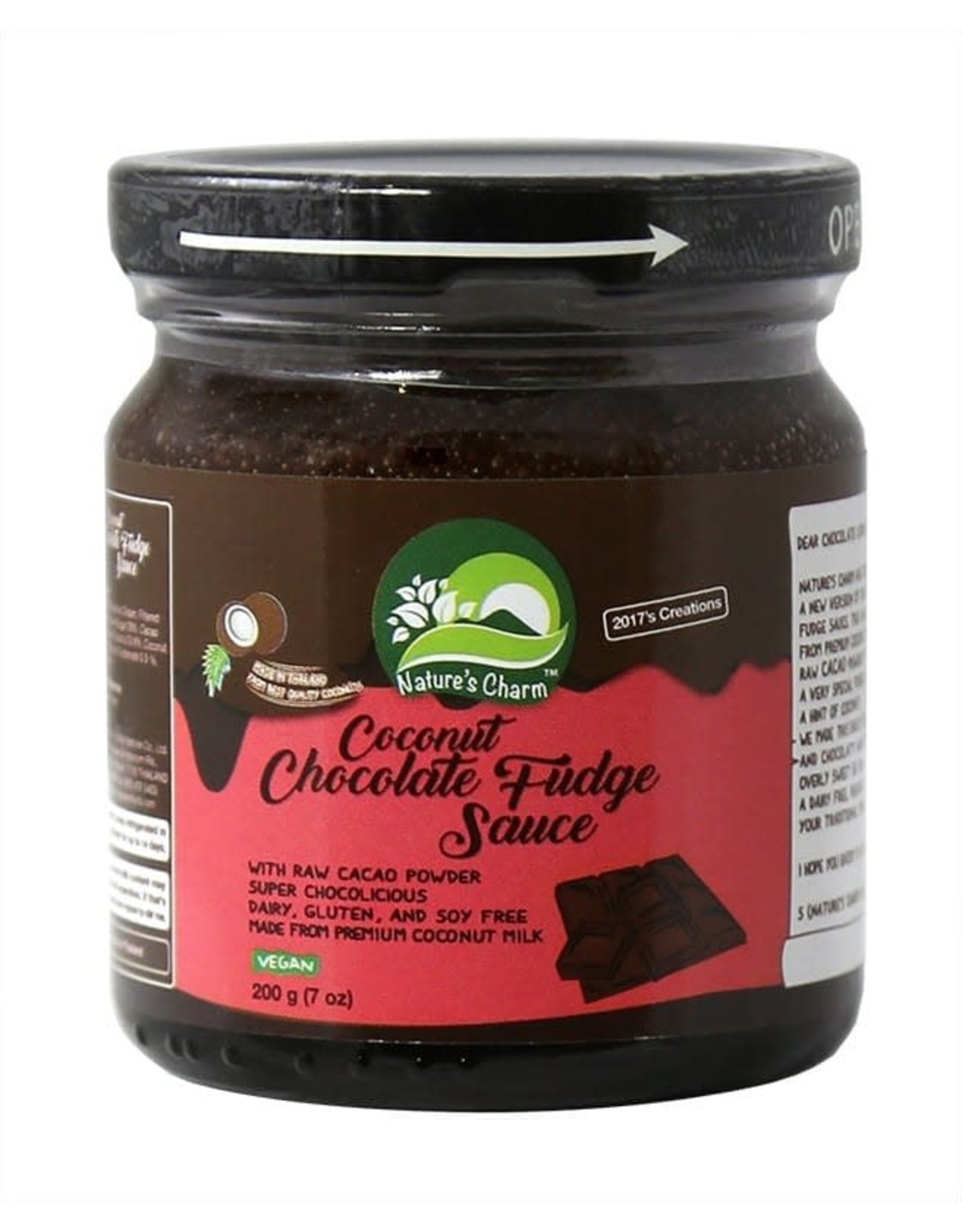 Nature's Charm Coconut Chocolade Fudge Sauce