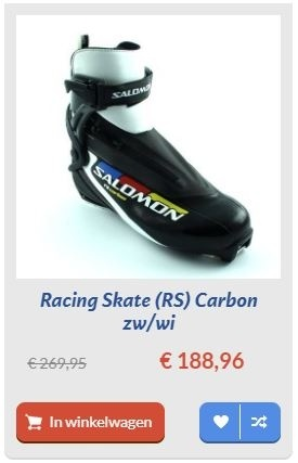 Racing Skate (RS) Carbon zw/wi