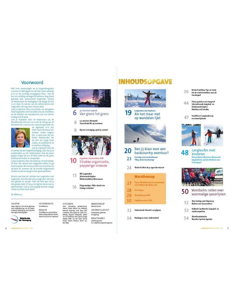 Vasa Sport Langlauf Magazine 2019/2020