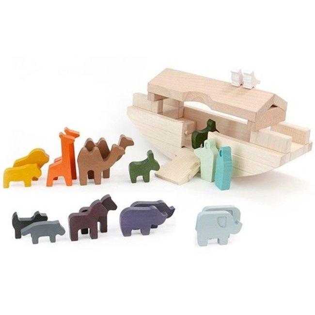 Bajo Houten Speelgoed Ark van Noach met dierenparen Lazy Lama