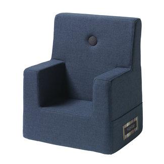 by KlipKlap Kinderstoel - KK Kids Chair   Dark Blue with Black
