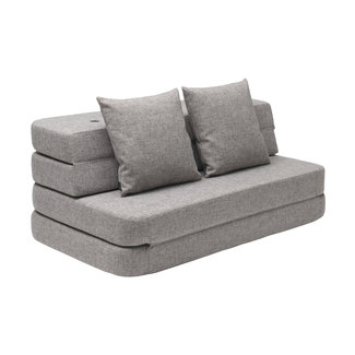 by KlipKlap Opvouwbare Bank - KK 3 Fold Sofa XL Soft | Multi Grey with Grey