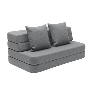 by KlipKlap Opvouwbare Bank - KK 3 Fold Sofa XL Soft | Blue Grey with Grey
