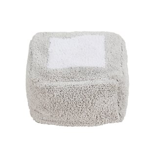 Lorena Canals Poef Marshmallow Square | Pearl Grey