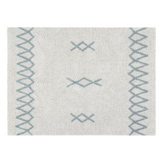 Lorena Canals Atlas Natural Vintage Blue | Vloerkleed