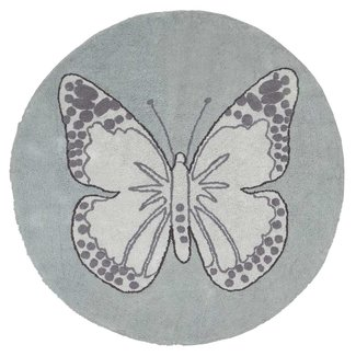Lorena Canals Butterfly Vintage Green | Vloerkleed