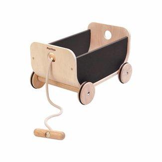 Plan Toys Houten Trekwagen | Zwart