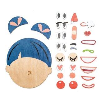 Tender Leaf Toys Houten gezicht emoties | What's Up?