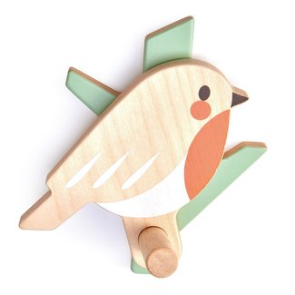 Tender Leaf Toys Houten Vogel Haakje | Forest Coat Hook