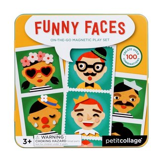 Petit Collage Magneetspel Funny Faces