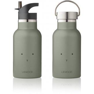 Liewood Drinkfles Anker Water Bottle | Rabbit Faune Green