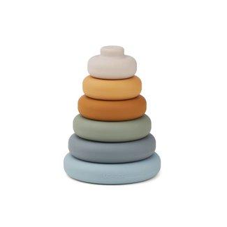 Liewood Siliconen Stapeltoren | Blue Multi Mix