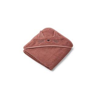 Liewood Handdoek met Capuchon | Cat Dark Rose