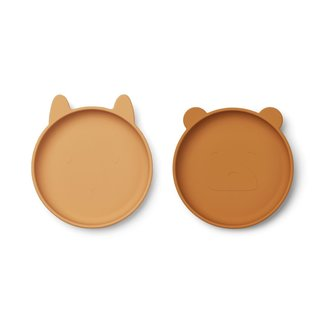 Liewood Siliconen Bord Olivia Plate 2-pack | Yellow Mix