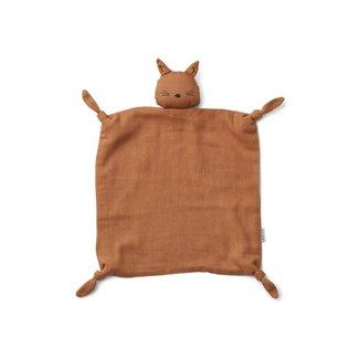 Liewood Knuffeldoek Cat Terracotta
