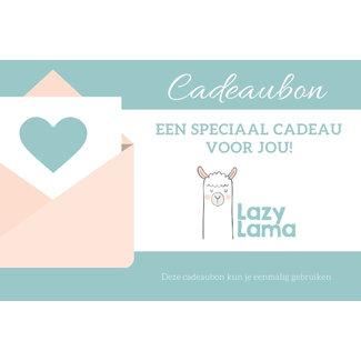 Lazy Lama Online Cadeaubon per post