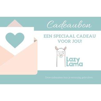 Lazy Lama Winkel Cadeaubon per post