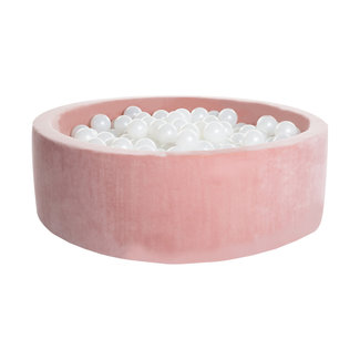 KIDKII Ballenbad Velvet Rond 90x40   Baby Pink