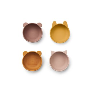 Liewood Iggy silicone bowls - 4 pack | Rose mix