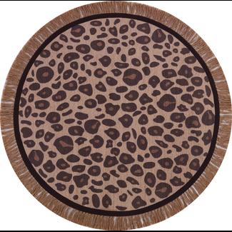 Tapis Petit Vloerkleed Luipaard Rond | Leopard Round