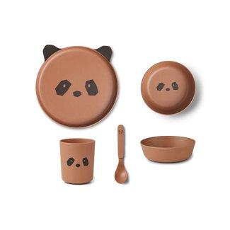 Liewood Servies Set Bamboo Panda Tuscany Rose