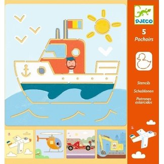 Djeco Sjablonen | Transport & Co