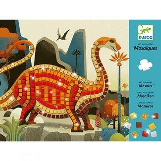 Djeco Mozaïek Kunst met een nummer | Dinosaurussen