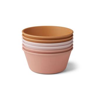 Liewood Greta Bamboo Bowl | 6-pack - Rose Multi Mix
