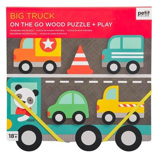 Petit Collage Houten Puzzel | Big Truck