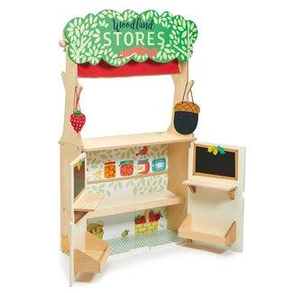 Tender Leaf Toys Houten Winkel en Poppenkast Woodland