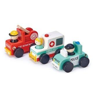Tender Leaf Toys Noodgeval Wagens