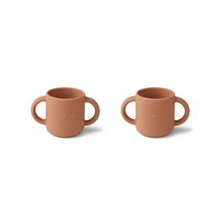 Liewood Drinkbeker - Gene silicone cup 2-pack | Cat Tuscany Rose