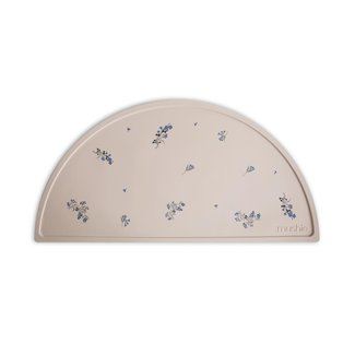 Mushie Siliconen Placemat   Lilac Flowers