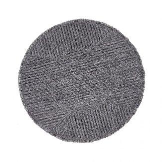 Lorena Canals Black Tea | Wollen Vloerkleed 160 × 160 cm