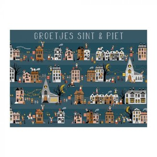 House of Products Ansichtkaart Groetjes Sint & Piet
