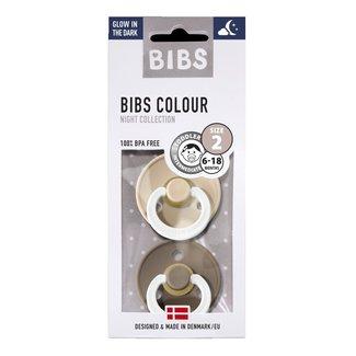 BIBS Fopspeen Duopak Vanilla & Dark Oak 6 - 18 mnd