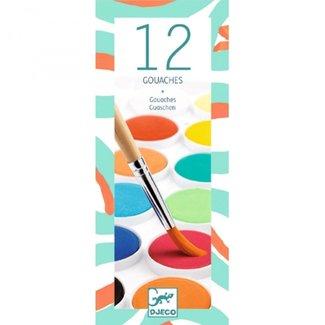 Djeco Waterverf in 12 kleuren