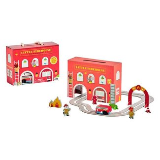 Petit Collage Wind up & go Speel-set | Brandweerkazerne