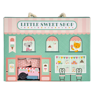 Petit Collage Wind up & go Speel-set | Winkel - Little Sweet Shop